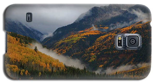 Clouds And Fog Encompass Autumn At Mcclure Pass In Colorado Galaxy S5 Case