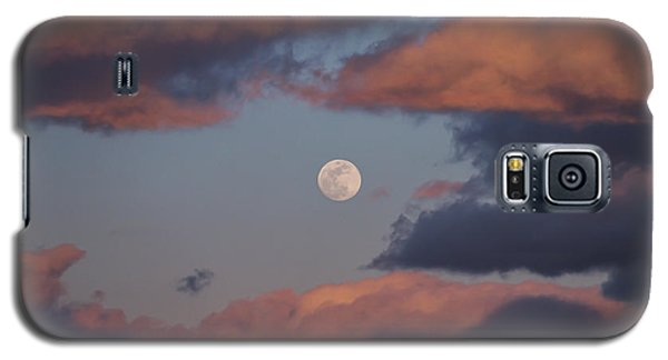 Galaxy S5 Case featuring the photograph Clouds And Moon March 2017 by Terry DeLuco
