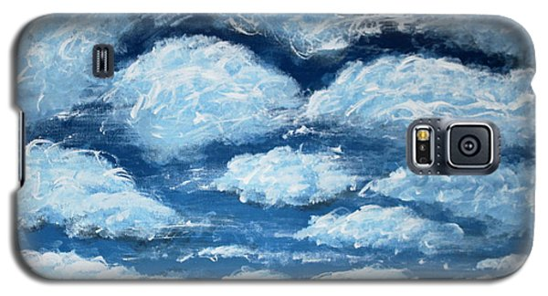 Galaxy S5 Case featuring the painting Clouds by Antonio Romero
