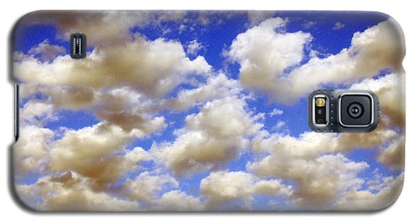 Galaxy S5 Case featuring the digital art Clouds Blue Sky by Jana Russon