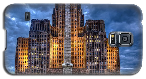 Clouds Over City Hall Galaxy S5 Case by Don Nieman
