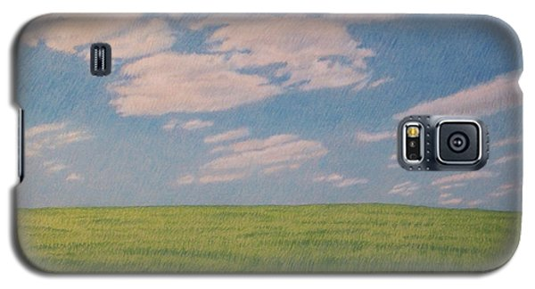 Clouds Over Green Field Galaxy S5 Case