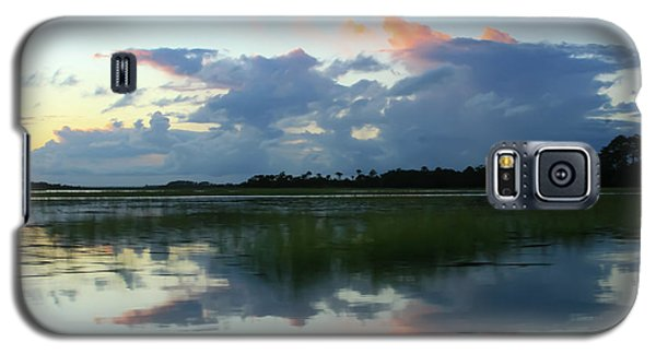 Clouds Over Marsh Galaxy S5 Case by Patricia Schaefer