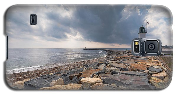 Clouds Over Old Scituate Light Galaxy S5 Case