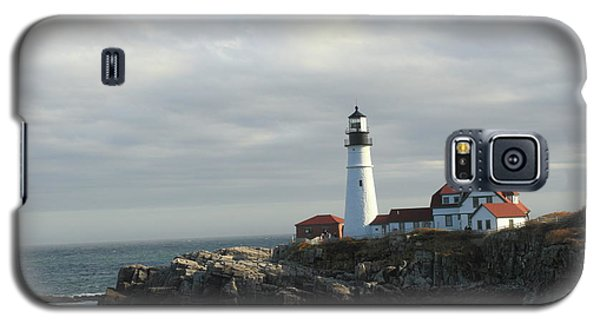 Clouds Over Portland Head Lighthouse 2 Galaxy S5 Case
