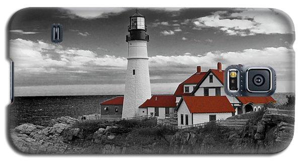Clouds Over Portland Head Lighthouse 3 - Bw Galaxy S5 Case by Lou Ford