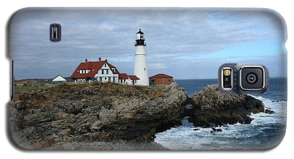 Clouds Over Portland Head Lighthouse Galaxy S5 Case by Lou Ford
