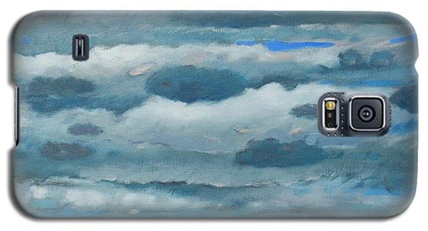 Galaxy S5 Case featuring the painting Clouds Over South Bay by Gary Coleman