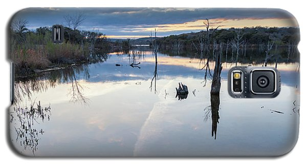 Clouds Reflecting On Large Lake During Sunset Galaxy S5 Case