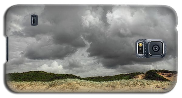 Galaxy S5 Case featuring the photograph Cloudy Beach II By Kaye Menner by Kaye Menner