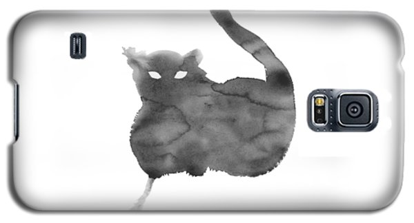 Galaxy S5 Case featuring the painting Cloudy Cat by Marc Philippe Joly