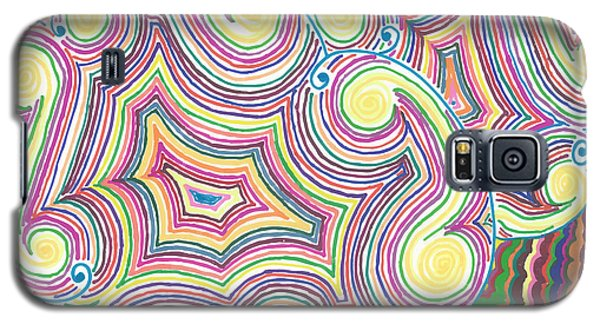 Galaxy S5 Case featuring the drawing Cloudy Chaos by Jill Lenzmeier