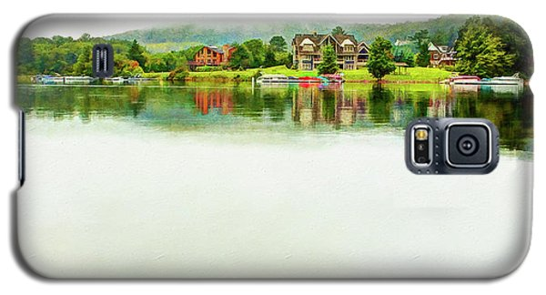 Cloudy Day On The Lake Galaxy S5 Case