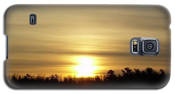 Cloudy Golden Sky At Dawn Galaxy S5 Case by Kent Lorentzen