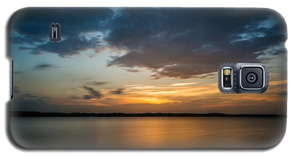 Cloudy Lake Sunset Galaxy S5 Case