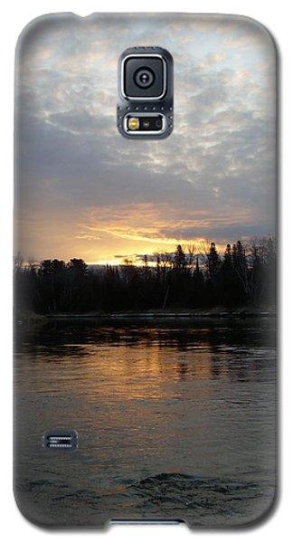 Cloudy Mississippi River Sunrise Galaxy S5 Case by Kent Lorentzen