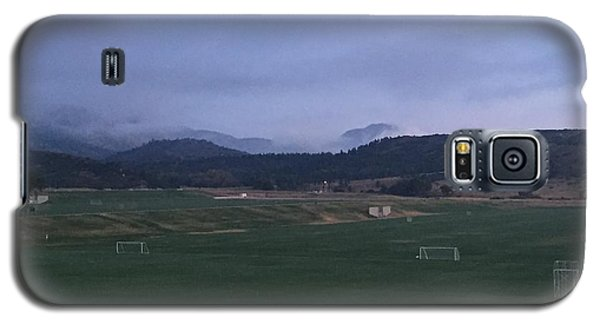 Galaxy S5 Case featuring the photograph Cloudy Morning At The Field by Christin Brodie