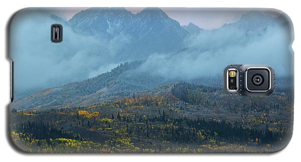Galaxy S5 Case featuring the photograph Cloudy Peaks by Aaron Spong
