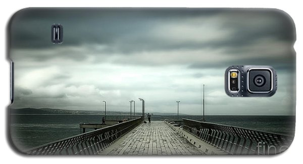 Galaxy S5 Case featuring the photograph Cloudy Pier by Perry Webster