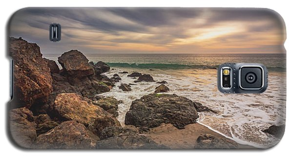 Cloudy Point Dume Sunset Galaxy S5 Case