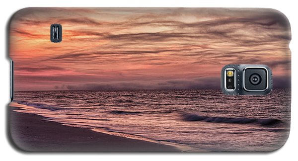 Galaxy S5 Case featuring the photograph Cloudy Sunrise At The Beach by John McGraw