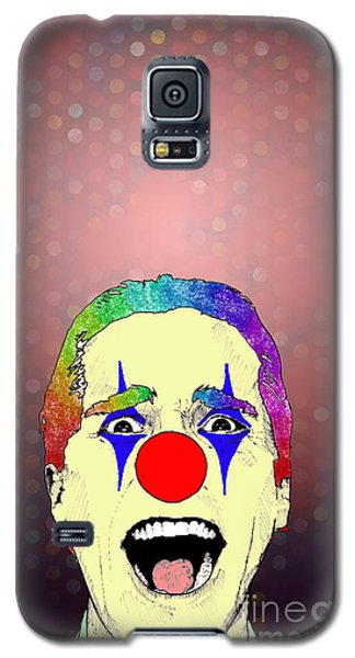 Galaxy S5 Case featuring the drawing clown Christian Bale by Jason Tricktop Matthews