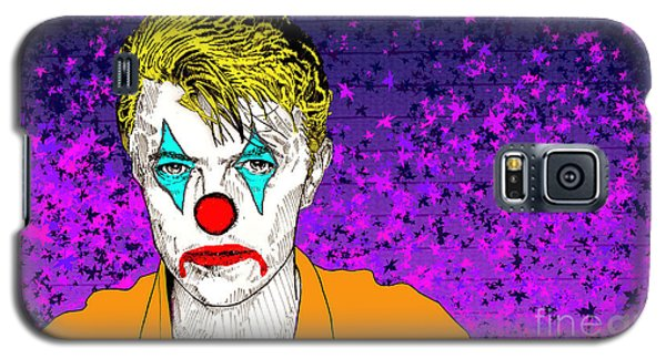 Galaxy S5 Case featuring the drawing Clown David Bowie by Jason Tricktop Matthews