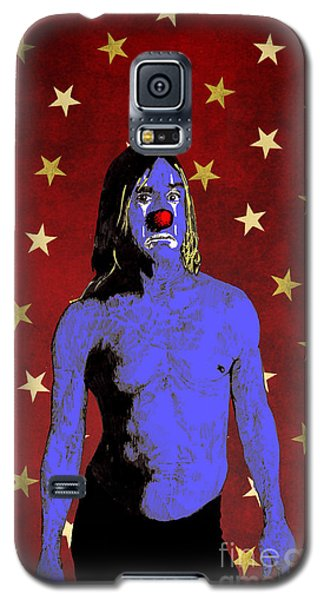 Galaxy S5 Case featuring the drawing Clown Iggy Pop by Jason Tricktop Matthews