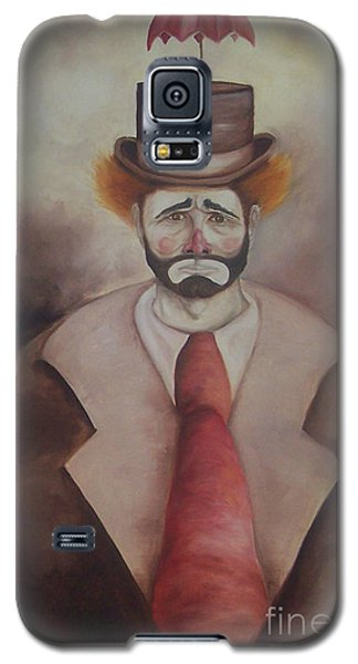Galaxy S5 Case featuring the painting Clown by Marlene Book
