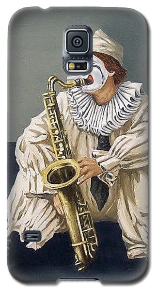 Galaxy S5 Case featuring the painting Clown by Natalia Tejera