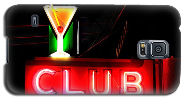 Galaxy S5 Case featuring the photograph Club Neon Sign 24x20 by Melany Sarafis