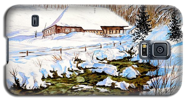 Clubhouse In Winter Galaxy S5 Case by Sher Nasser