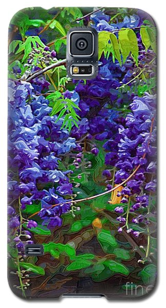 Galaxy S5 Case featuring the photograph Clusters Of Wisteria by Donna Bentley