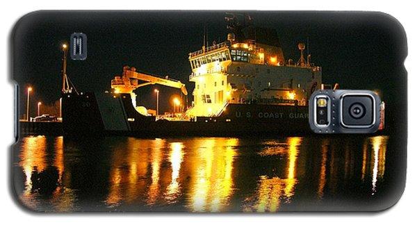 Coast Guard Cutter Mackinaw At Night Galaxy S5 Case