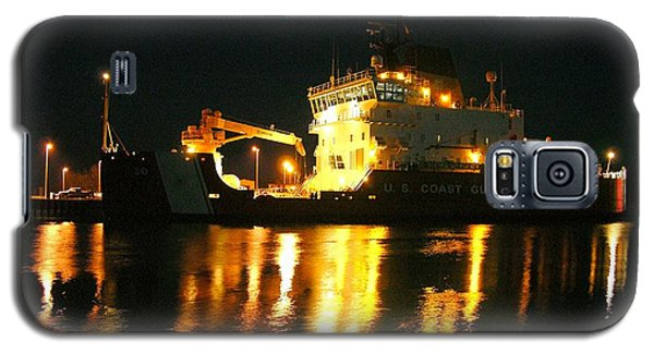 Coast Guard Cutter Mackinaw At Night Galaxy S5 Case
