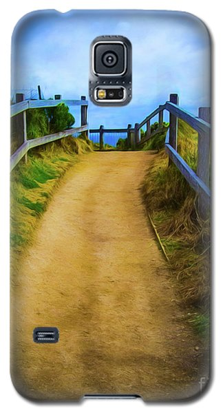 Galaxy S5 Case featuring the photograph Coast Path by Perry Webster