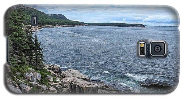 Coastal Landscape From Ocean Path Trail, Acadia National Park Galaxy S5 Case