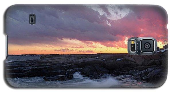 Coastal Sunset Cape Neddick - York Maine  -21056 Galaxy S5 Case