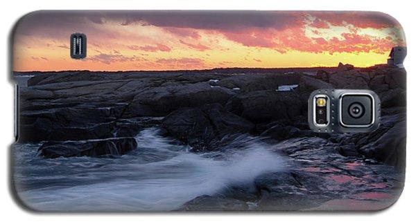 Galaxy S5 Case featuring the photograph Coastal Sunset, Cape Neddick, York, Maine  -21056-v2 by John Bald