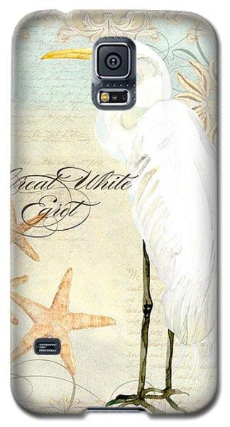 Coastal Waterways - Great White Egret 3 Galaxy S5 Case by Audrey Jeanne Roberts