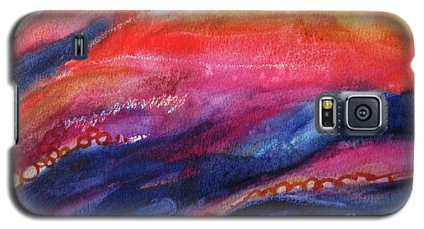 Galaxy S5 Case featuring the painting Coatings And Deposits Of Color by Kathy Braud