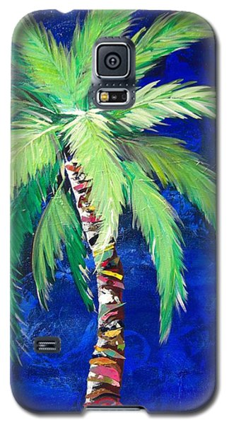Cobalt Blue Palm II Galaxy S5 Case