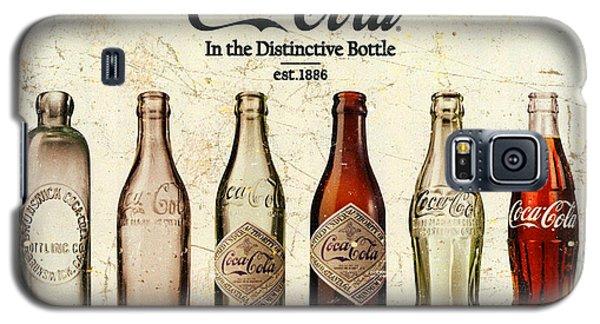 Coca-cola Bottle Evolution Vintage Sign Galaxy S5 Case