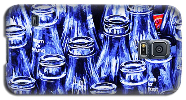 Coca-cola Coke Bottles - Return For Refund - Square - Painterly - Blue Galaxy S5 Case