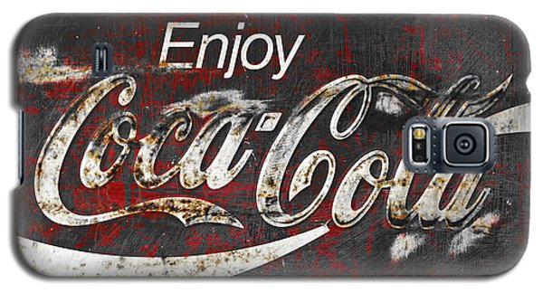 Coca Cola Grunge Sign Galaxy S5 Case