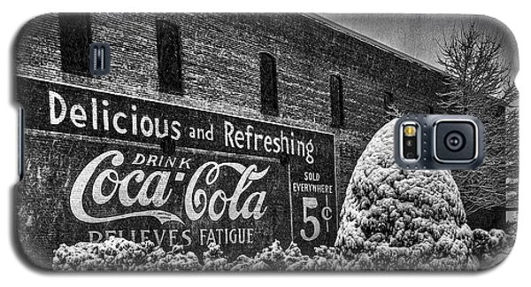 Coca Cola Sign In Bw Galaxy S5 Case