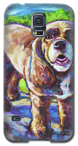 Galaxy S5 Case featuring the painting Cocker Spaniel  by Robert Phelps