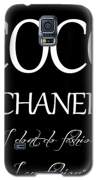 Coco Chanel Quote Galaxy S5 Case