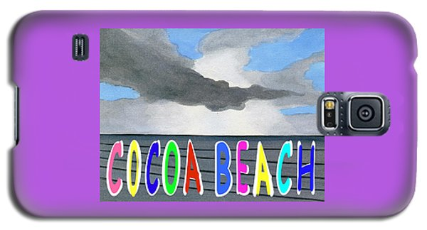Cocoa Beach Poster T-shirt Galaxy S5 Case