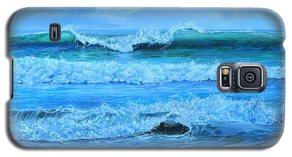 Galaxy S5 Case featuring the painting Cocoa Beach Surf by AnnaJo Vahle
